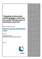 GtripleC (2010): Engaging Private Sector Capital at Scale in Financing Low Carbon Infrastructure in Developing Countries