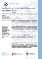 NewClimate Institute (2016): Conditionality of Intended Nationally Determined Contributions (INDCs)