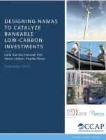 CCAP, UNEP-DTU, New Climate Institute (2016): Designing NAMAs to catalyze bankable low-carbon investments