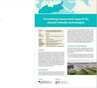 Promoting science and research for climate friendly technologies