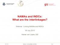 Mitigation Partnership & Global INDC Support Programme Webinar: Linking NAMAs and INDCs