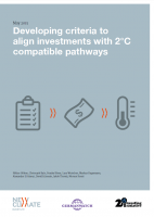 NCI, GW, 2°II (2015): Developing Criteria to Align Investments With 2°C Compatible Pathways