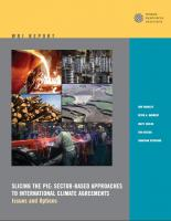 WRI (2007): Slicing the Pie: Sector-based Approaches to International Climate Agreements